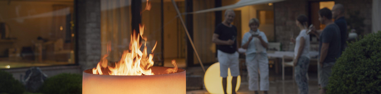 QFlame bol de feu la nuit