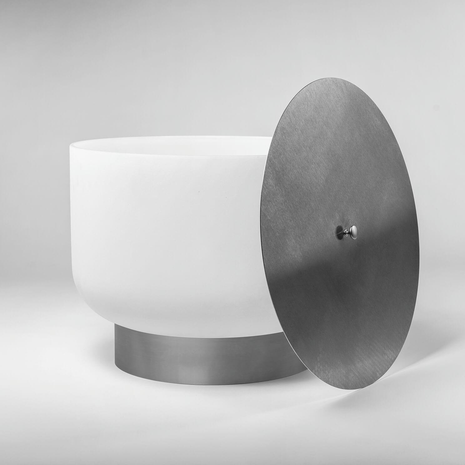 Cuvette à flamme qFlame en verre de quartz avec base et couvercle